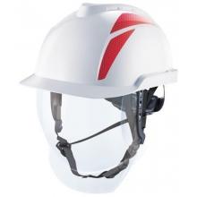 Casco Vgard 950 blanco/rojo pantalla arco eléctrico MSA