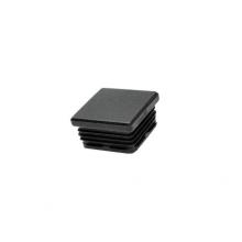 Contera cuadrada interior estriada 15 de 25x25 negro  (24 unidades) FORTAPS