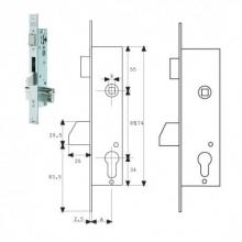 Cerradura embutir 2210 30-3AI basculante TESACERRA