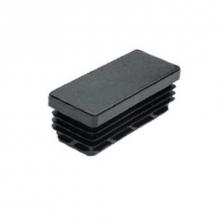 Contera 19 rectangular estriada 40x30 negro  (24 unidades)