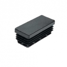 Contera rectangular estriada 19 de 20x10 negro  (5 unidades)