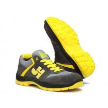 Zapatilla Style S1P SRC gris/amarilla JHAYBER