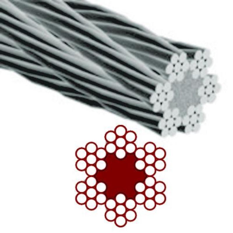 Cable acero trenzado 6x7 1 3mm 100 metros ferreter a - Cable acero trenzado ...