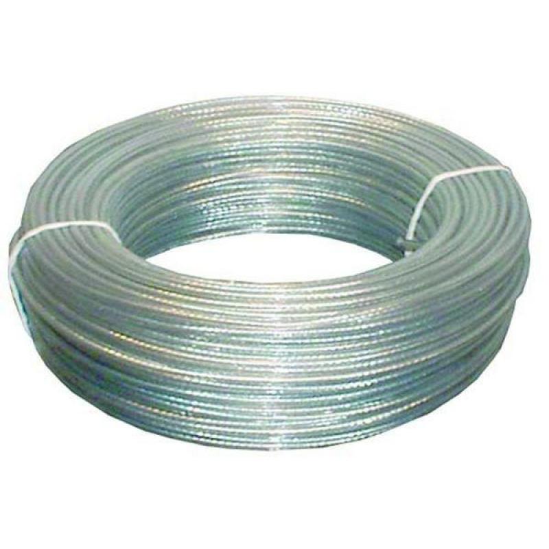 Cable acero plastificado 6x7 1 4x6mm 100 metros for Cable de acero precio