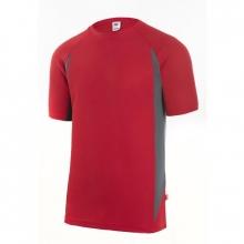 Camiseta manga corta 105501 12-8 rojo/gris VELILLA