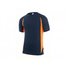 Camiseta tecnica manga corta 105501-230 marino/naranja VELILLA