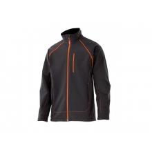 Cazadora soft shel 206001 0-19 negro/naranja VELILLA