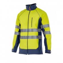 Soft shell alta visibilidad 306001-70 amarillo/azul marino VELILLA