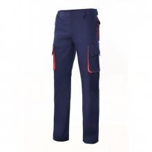 Pantalon multibolsillos con refuerzo 103004 marino/naranja VELILLA
