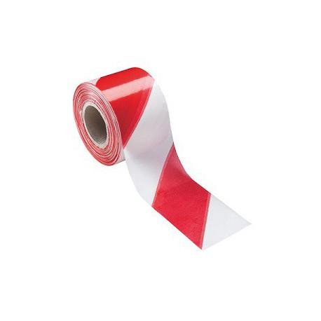 Cinta balizamiento 80mmx200m 50 micras roja/blanc galga200 ICF