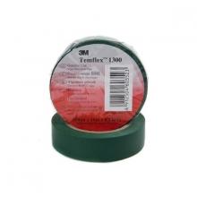 Cinta aislante pvc temflex 1300 verde 19mmx20m 3M