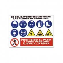 Placa señalizacion obras 70x100cm CLIMAX