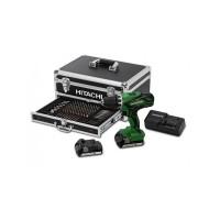 Taladro atornillador percutor 18V 1,5Ah DV18DJL+ Kit 100pzs HITACHI