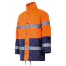 Cazadora alta visibilidad acolchada 161-210 naranja/marino VELILLA