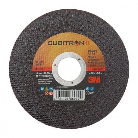 Disco corte 115x1mm Cubitron II plano inox (10 unidades) 3M