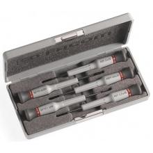 Caja de 5 destornilladores Micro-Tech ranura y phillips FACOM
