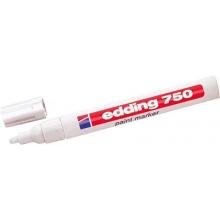 Rotulador blanco 750 marcador de tinta opaca EDDING