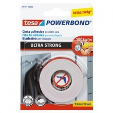 Cinta Powerbond doble cara 55791 1,5mx19mm TESA