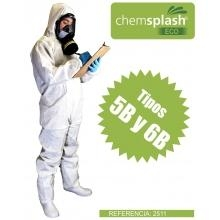 Buzo desechable chemsplash eco XL cat.III tipo-5b-6b imperme MPL