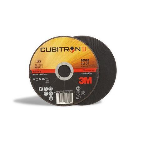 Disco corte 115x1,6mm Cubitron II plano inox (10 unidades) 3M