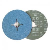Disco fibra 581C 178mm P80 3M
