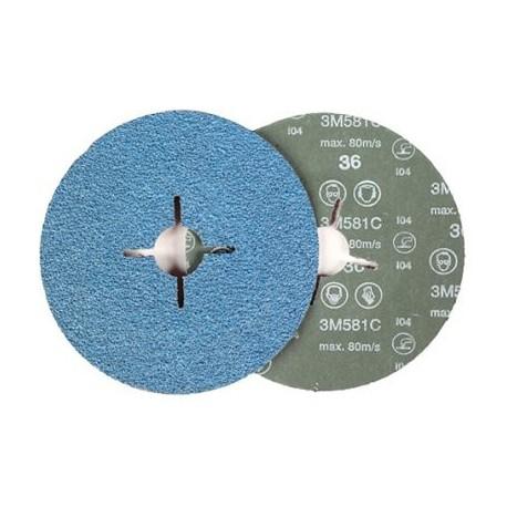 Disco fibra 581C 178mm P60 3M