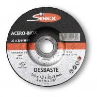Disco desbaste E-115x7 A30PPSF inox SINEX