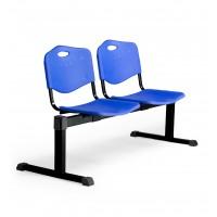 Bancada Cenizate 2 plazas con asiento en plástico inyectado PYC