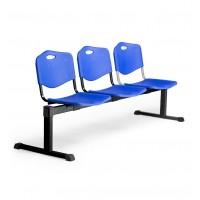 Bancada Pozohondo 3 plazas con asiento en plástico inyectado PYC