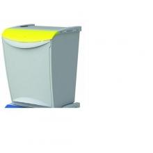Cubo 24300 Amarillo reciclaje 25 litros 340x300x423mm DENOX