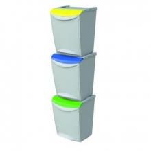 Cubo 24300 Verde reciclaje 25 litros 340x300x423mm DENOX