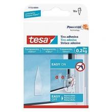 Tiras adhesivas transparentes hasta 0,2kg TESA