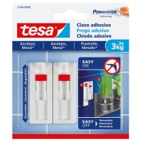 Clavo adhesivo ajustable para azulejos hasta 3kg TESA