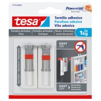 Tornillo adhesivo ajustable para paredes pintadas hasta 1kg TESA