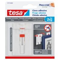 Clavo adhesivo ajustable para paredes pintadas hasta 2kg TESA