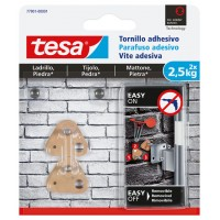 Tornillo adhesivo triangular hasta 2,5kg ladrillo/piedra TESA