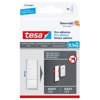 Tira adhesiva para paredes pintadas hasta 0,5kg TESA