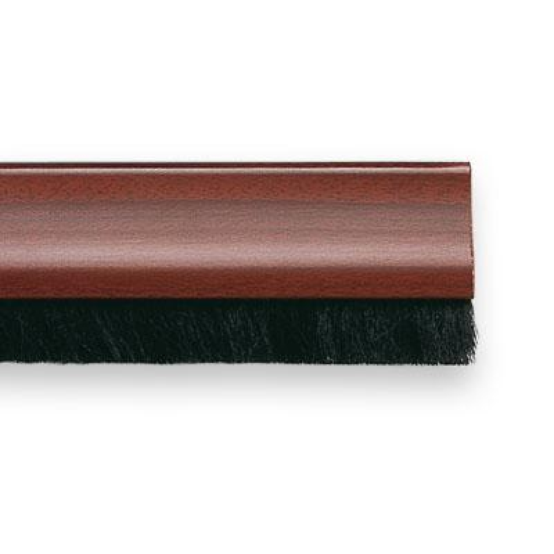 Burlete adhesivo con cepillo para puerta 1m madera oscura - Adhesivo para madera ...