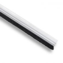 Burlete adhesivo con cepillo 1m transparente INOFIX