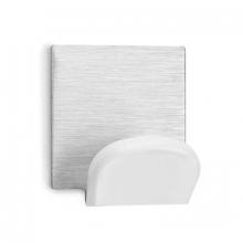 Colgador grande adhesivo blanco inoxidable 45x40x30mm INOFIX