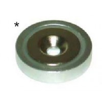 Base magnética neodimio con agujero 80x18x10,5x24 ACMAGNETS