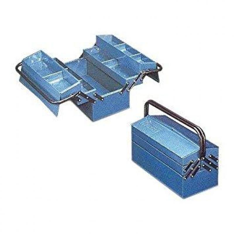 Aparador Pequeño Salon ~ Caja de herramientas 5 divisiones 430x205x210mm azul HECO Ferretería Campollano
