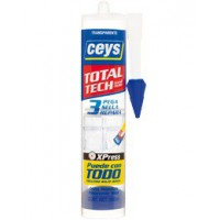 Adhesivo de montaje Total Tech transparente 290ml CEYS