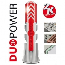 Taco Duopower 8x40mm + tornillo (50 unidades) FISCHER