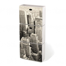 Zapatero polipropileno antichoc Tris Manhattan 51x17x118cm
