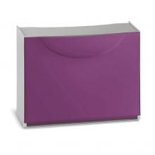 Zapatero modular 1 puerta Harmony 51x19x39cm violeta