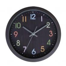 Reloj números color/esfera negra Ø26cm