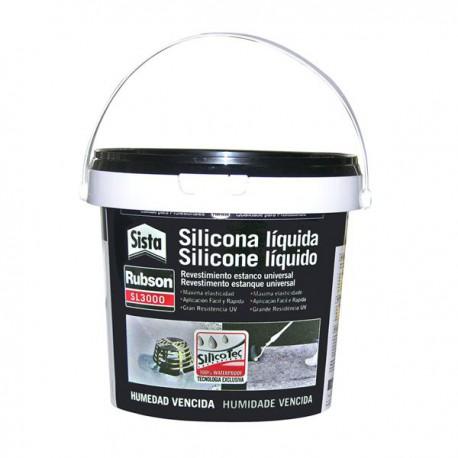 Silicona líquida AQUABLOCK SL3000 1Kg negra RUBSON