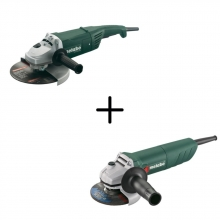 Pack Amoladoras W2200-230mm+W750-115mm METABO