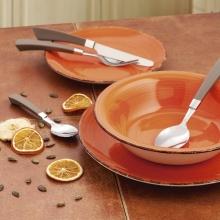 Vajilla de gres 18 piezas ARC Vita Quid naranja